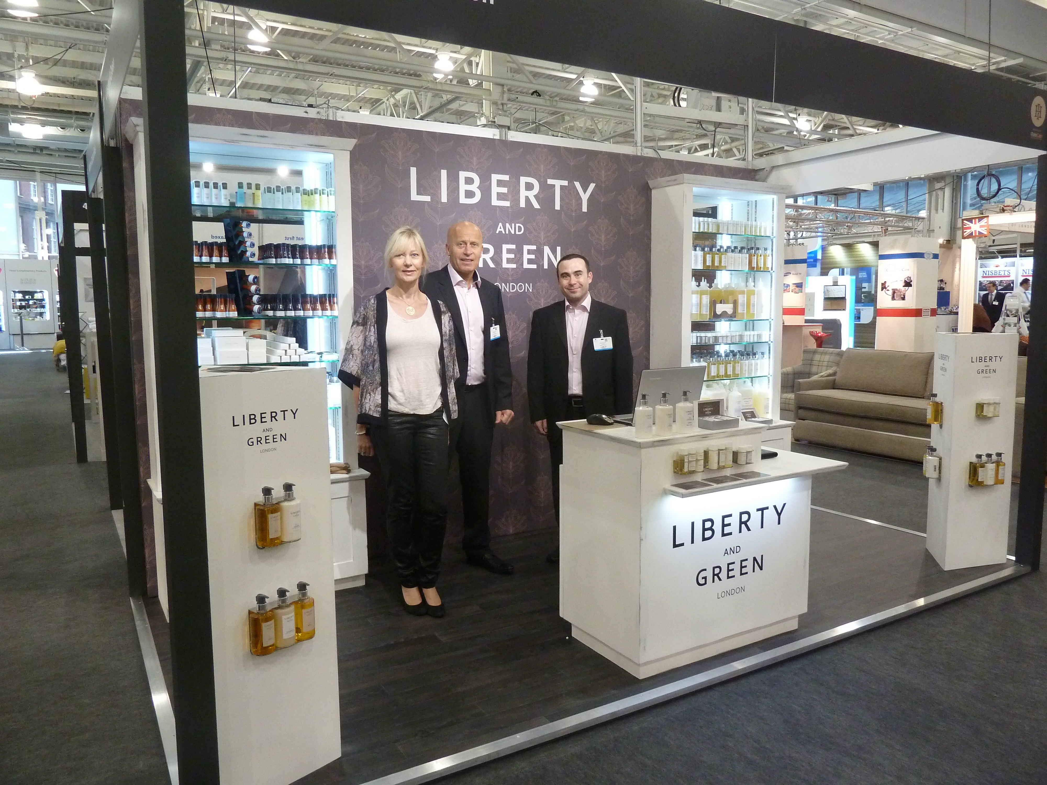 Trade Stands Olympia : Liberty and green at independent hotel show city creative
